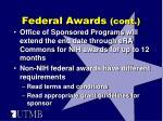 federal awards cont1