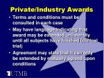 private industry awards