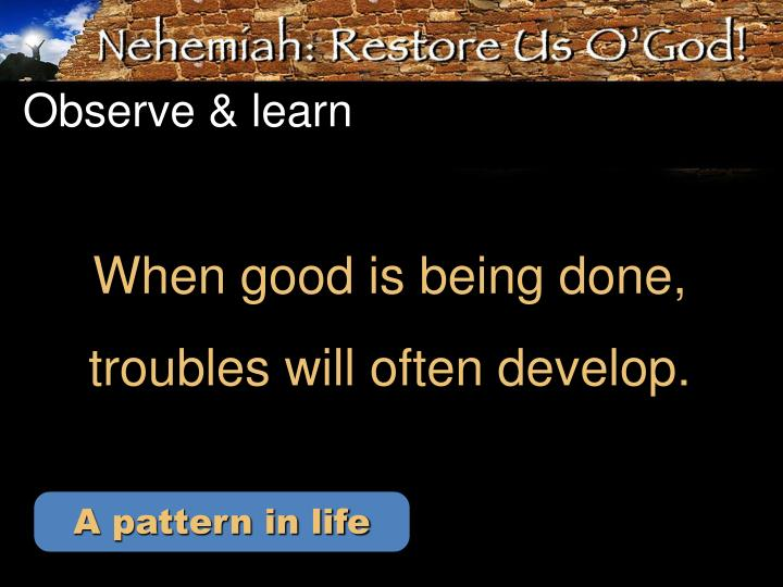 Observe learn