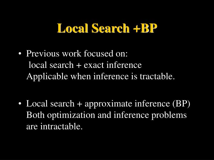 Local Search +BP