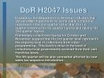 dor h2047 issues1