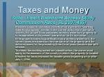 taxes and money11