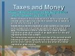 taxes and money12