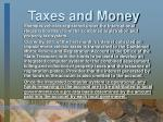 taxes and money13