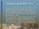 taxes and money5