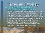 taxes and money9