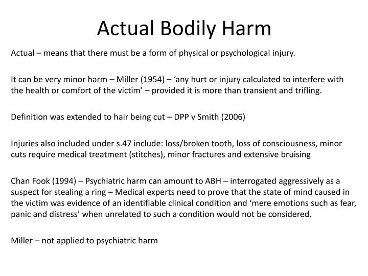 Actual Bodily Harm