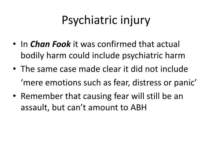 Psychiatric injury