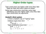 higher order types