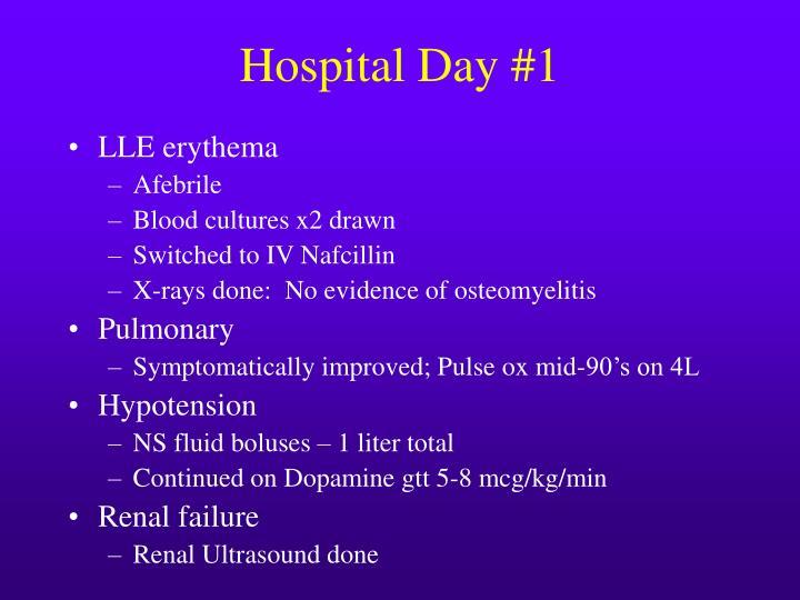 Hospital Day #1