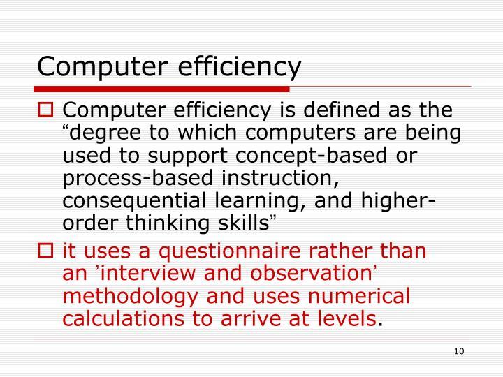 Computer efficiency