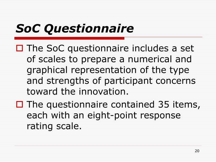 SoC Questionnaire