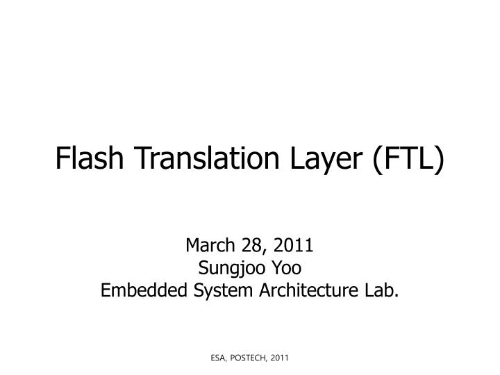 flash translation layer ftl n.