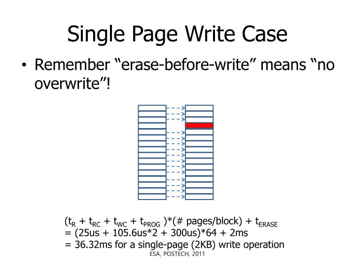 Single Page Write Case