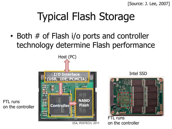 Typical flash storage