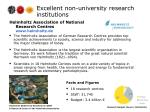 excellent non university research institutions2