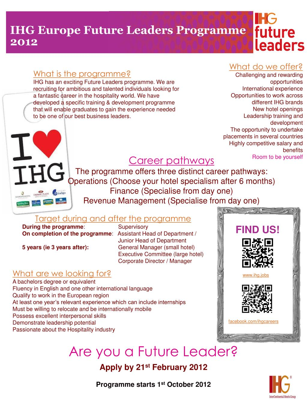 PPT - IHG Europe Future Leaders Programme 2012 PowerPoint