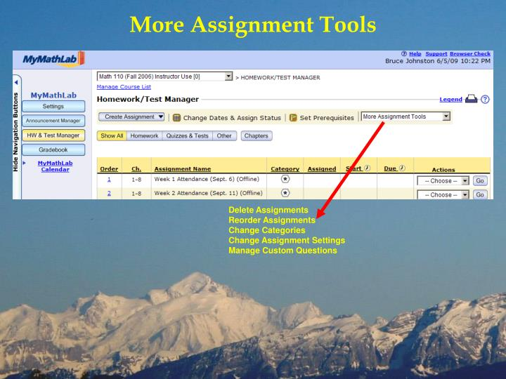 More Assignment Tools