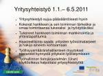 yritysyhteisty 1 1 6 5 20111