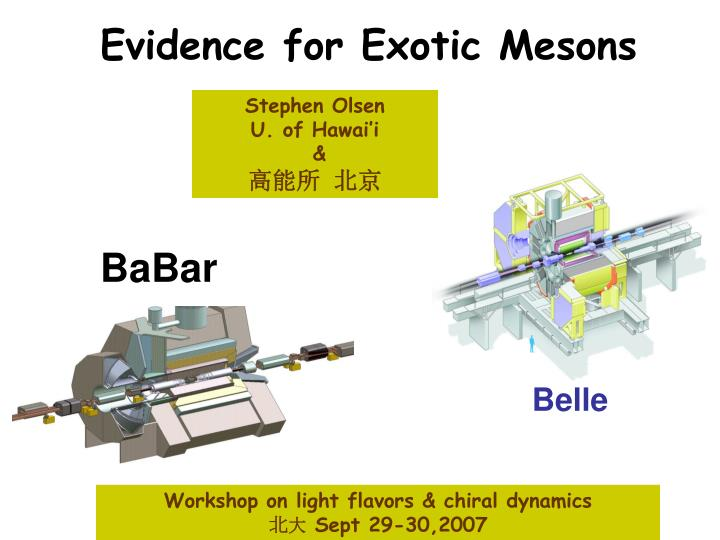 evidence for exotic mesons n.