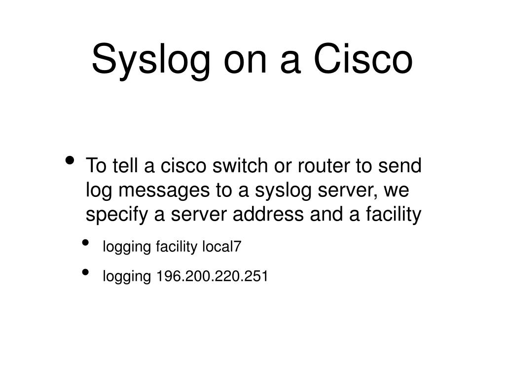 Cisco Syslogs
