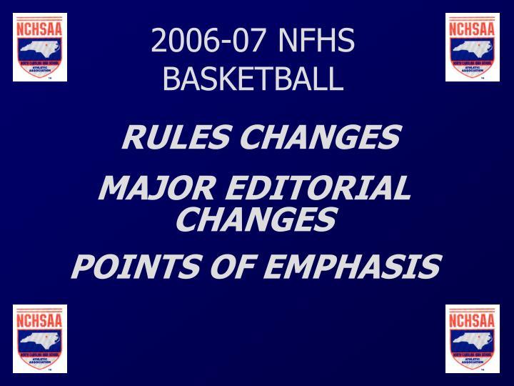 Ppt 2006 07 nfhs basketball rules changes major editorial changes 2006 07 nfhs basketball fandeluxe Images