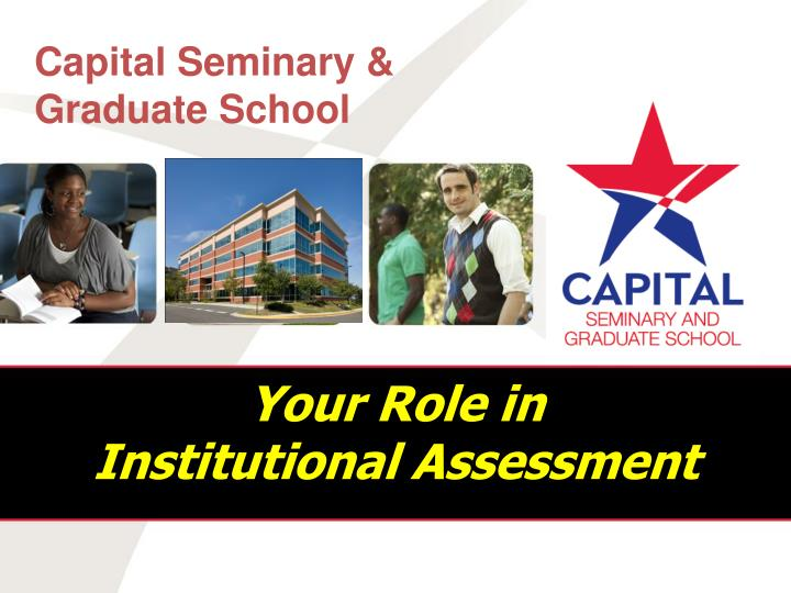your role in institutional assessment n.