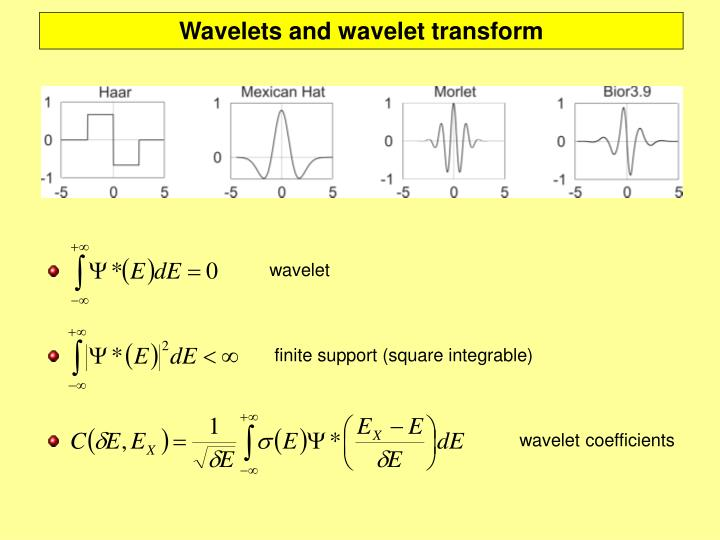 Wavelets and wavelet transform