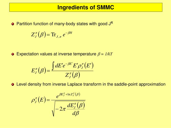 Ingredients of SMMC