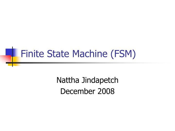 finite state machine fsm n.