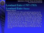 leonhard euler 1707 1783 leonhard euler theory
