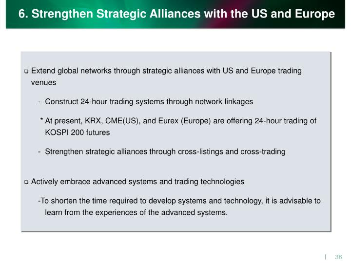 6. Strengthen Strategic Alliances with the US and Europe