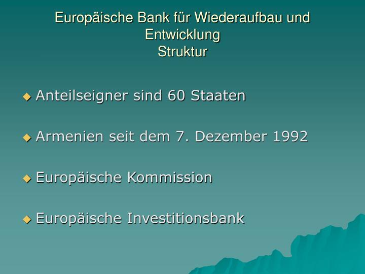 Europ ische bank f r wiederaufbau und entwicklung struktur