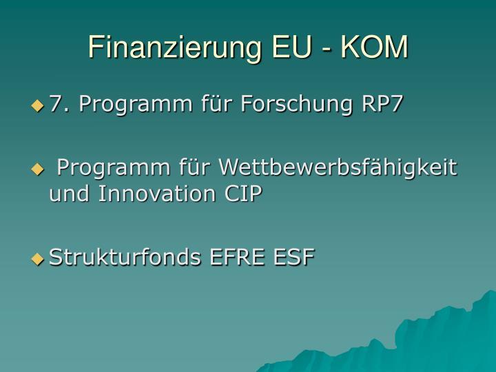 Finanzierung EU - KOM