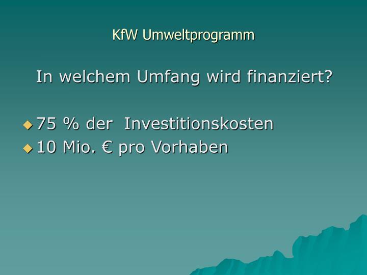 KfW Umweltprogramm