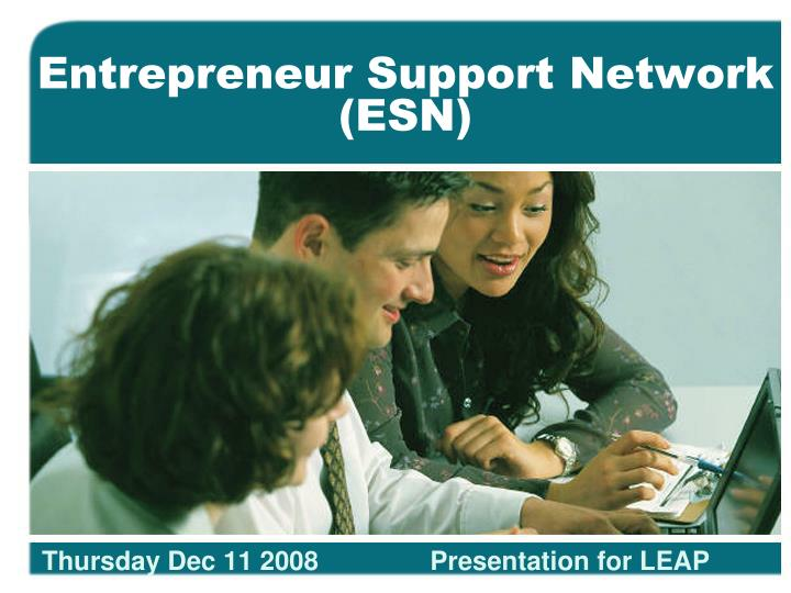 entrepreneur support network esn n.