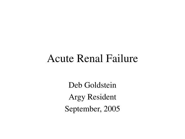acute renal failure n.