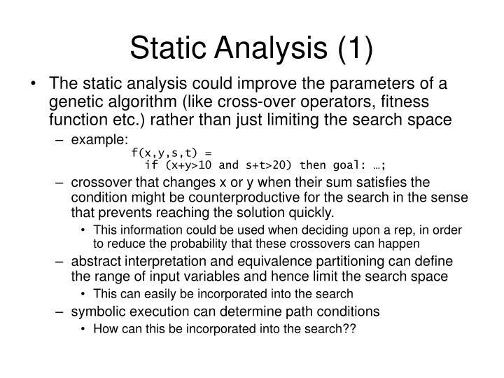Static analysis 1