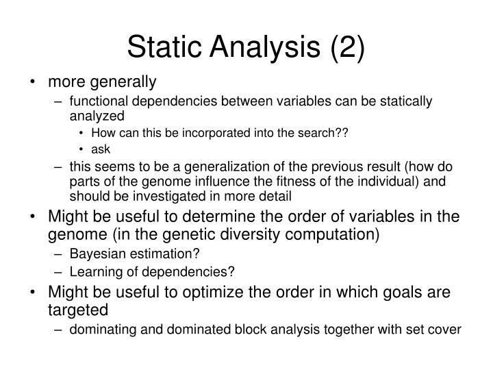 Static Analysis (2)