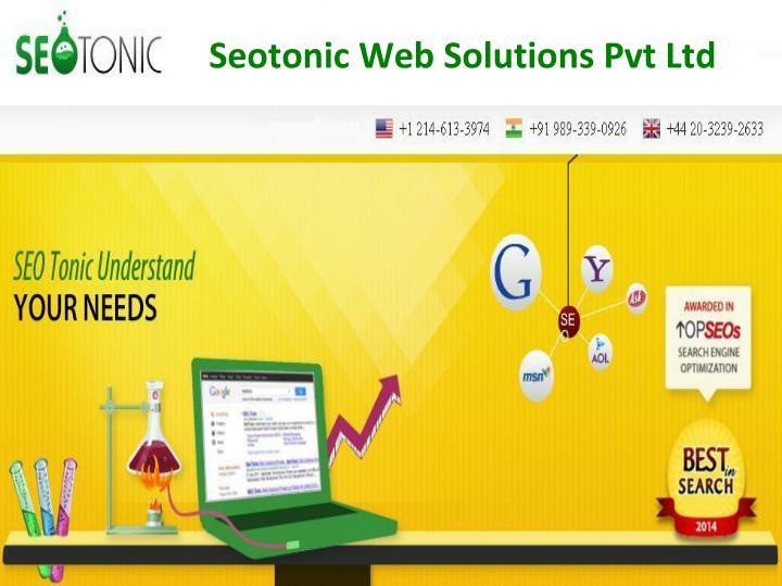 seotonic web solutions pvt ltd n.
