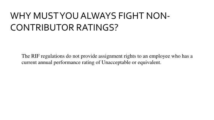 WHY MUST YOU ALWAYS FIGHT NON-CONTRIBUTOR RATINGS?