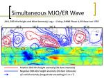 simultaneous mjo er wave3