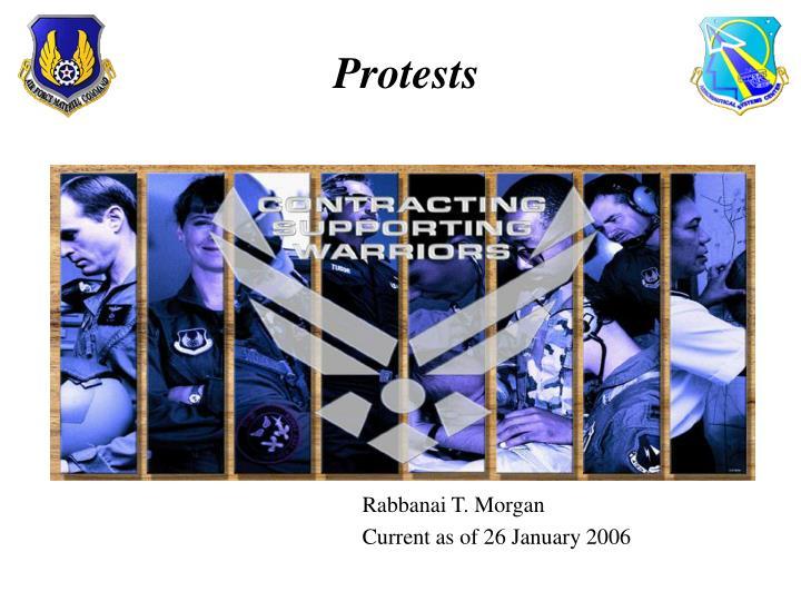 protests n.