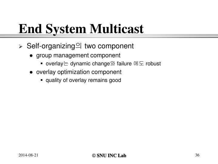 End System Multicast
