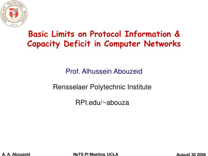 computer networks protocols ppt