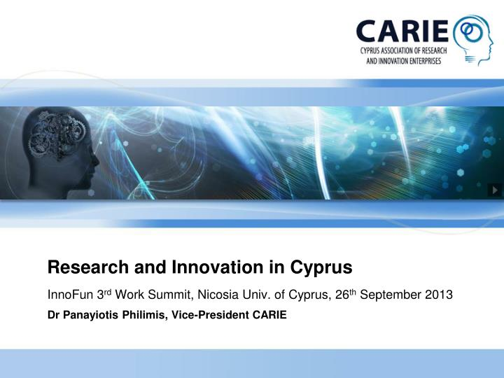 research and innovation in cyprus n.
