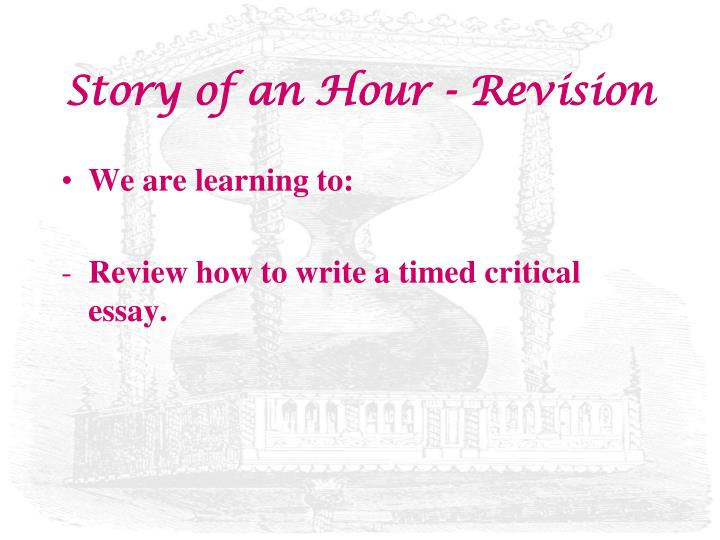 the story of an hour review