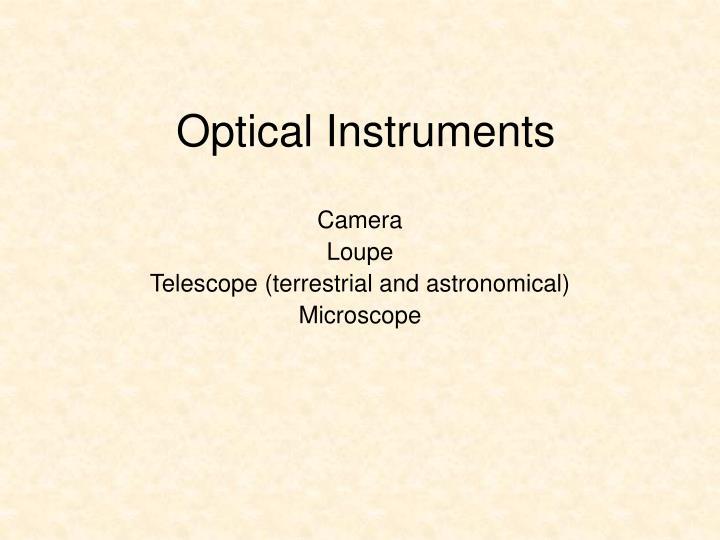 optical instruments n.
