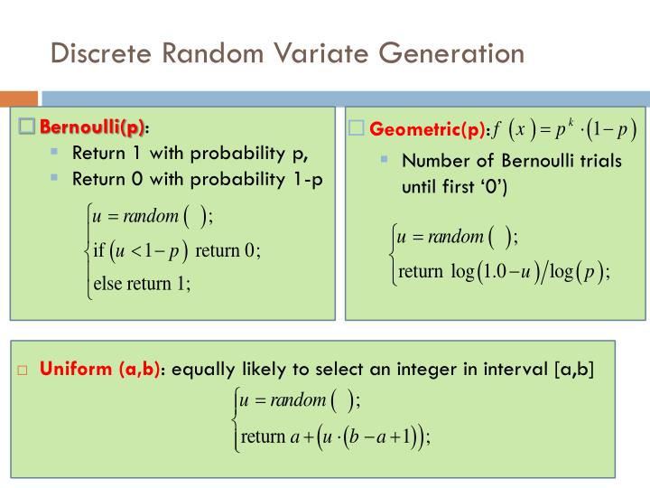 Discrete Random Variate Generation