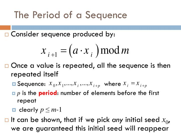 The Period of a Sequence